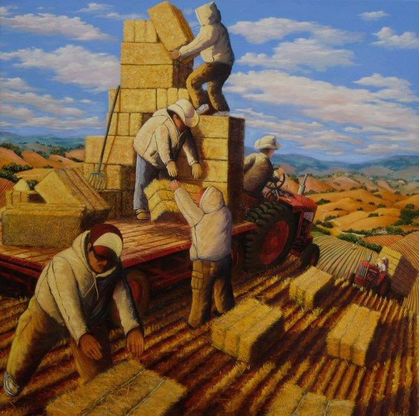 Harvesting Straw Eric Bellis 2004-09