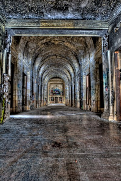 Michigan Central Station - Burned Hall