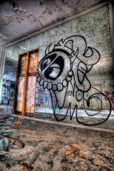 Wurlitzer Building - Graffiti Mirror