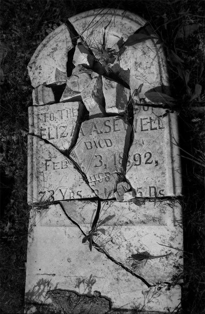 Shattered Tombstone at Pere Cheney