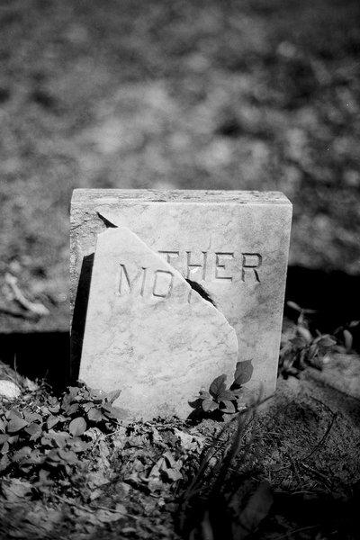 Broken tombstone - Jacktown