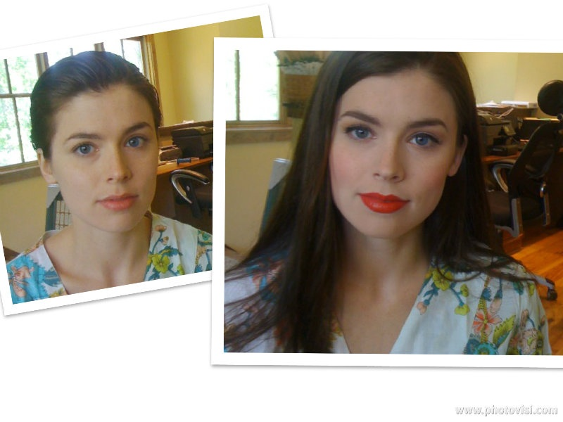 Nashville Makeup Lessons by Lisa Johnson - before & after