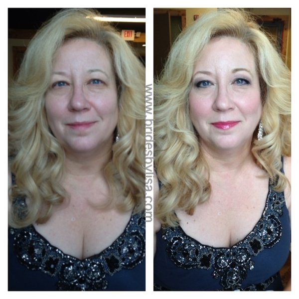 before & after  #Over40beauty by lisa johnson makeup artist