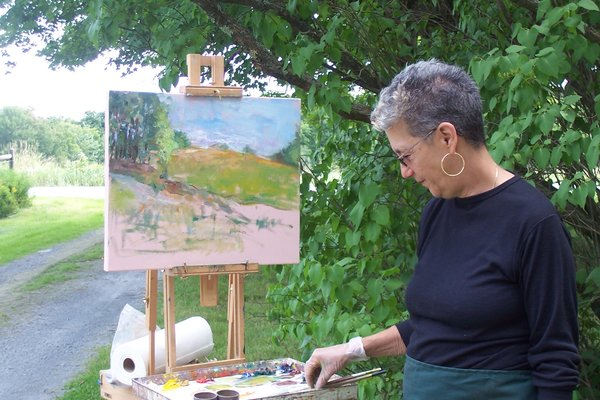 Shelli at the Easel